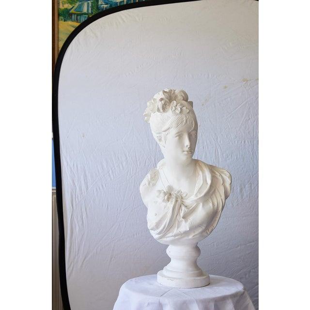 Elegant Hollywood Regency Large Plaster Bust For Sale In Atlanta - Image 6 of 13