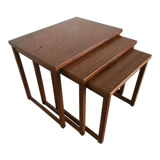 Danish Modern Nesting Tables by Kai Kristiansen For Sale