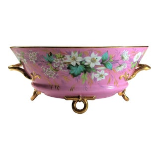 Antique French Old Paris Dubarry Rose Colored Centerpiece, Circa 1860-1870. For Sale