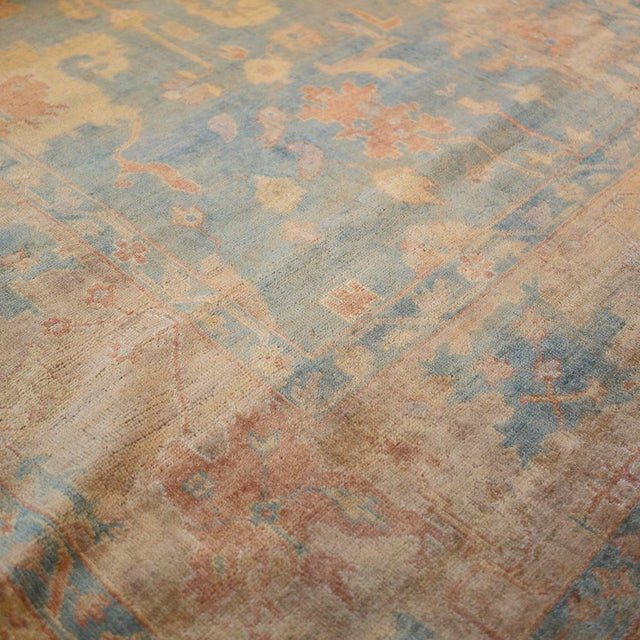 """Textile Mansour Quality Handwoven Oushak Rug - 8'2"""" X 9'10"""" For Sale - Image 7 of 7"""