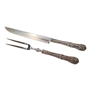 Tiffany and Co. English King Carving Set For Sale