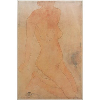 Large 1959 Nude by Auguste Rodin Lithograph