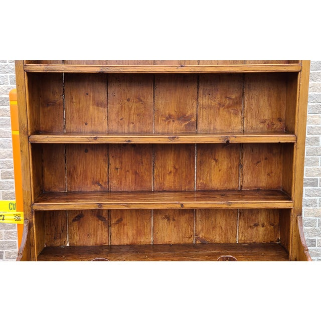 Antique 19th Century Irish Pine 2 Part Chicken Coop Cupboard Cabinet Hutch For Sale - Image 4 of 13