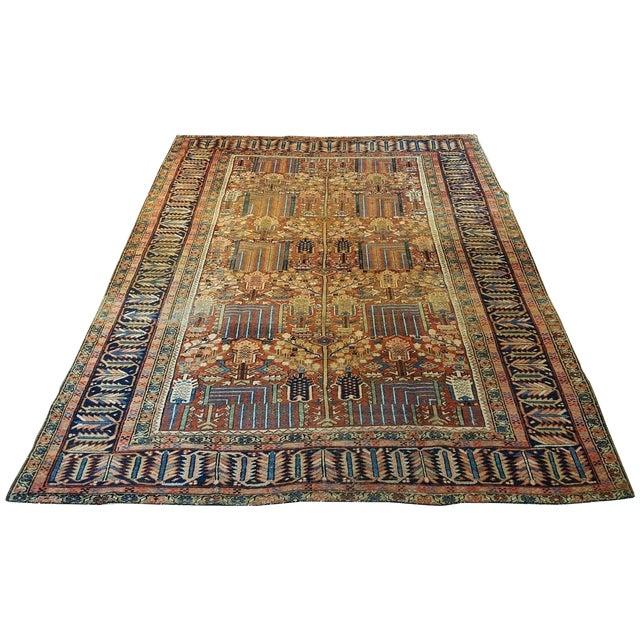 Antique Islamic Heriz Persian Rug - 9′ × 12′ - Image 1 of 10