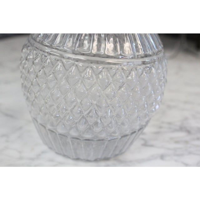 Traditional Mid 19th Century Blown Three-Mold Glass Decanter For Sale - Image 3 of 7