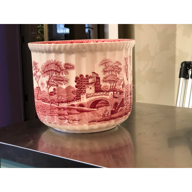 "1980s Spode ""Pink Tower"" Cachepot/Jardiniere For Sale - Image 5 of 5"