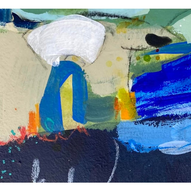 """Contemporary """"Flow State"""" Contemporary Abstract Mixed-Media Painting by Gina Cochran For Sale - Image 3 of 5"""