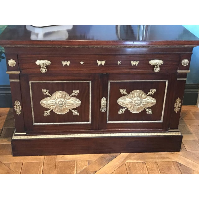 Traditional Mahogany Empire Cabinet For Sale - Image 3 of 10
