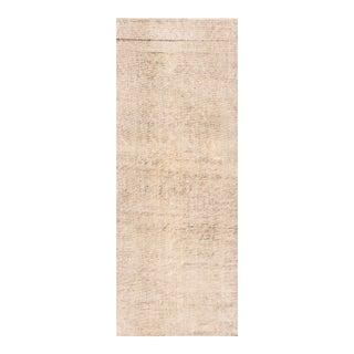 "Apadana - Vintage 1940s Ivory Persian Malayer Carpet, 3'1"" x 8'2"" For Sale"