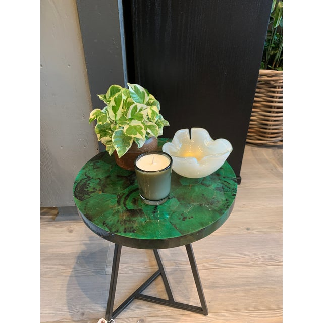 Contemporary Capiz Side/Cocktail Table For Sale In Los Angeles - Image 6 of 7