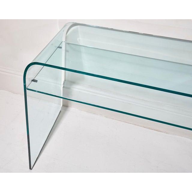 Fiam Italia Elmentare Glass Desk For Sale - Image 4 of 5