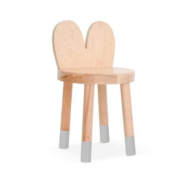 Lola Maple Wood Kids Chair - Set of 2 - . Lola mixes classic simple design with an animal inspired twist from ears to...