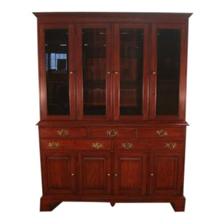 Henkel Harris Solid Cherry China Cabinet For Sale