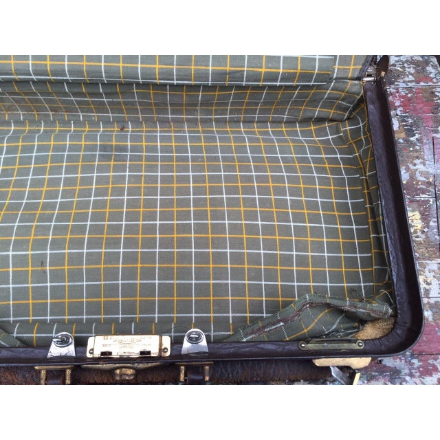 Leather Strap Suitcase For Sale - Image 11 of 13