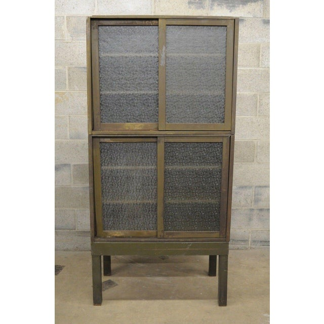 20th Century Industrial Remington Rand Green Steel Metal Stacking Barrister Storage Cabinet For Sale - Image 11 of 13