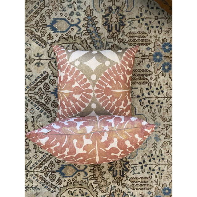 Textile Boho Chic Flower Pillows - a Pair For Sale - Image 7 of 9