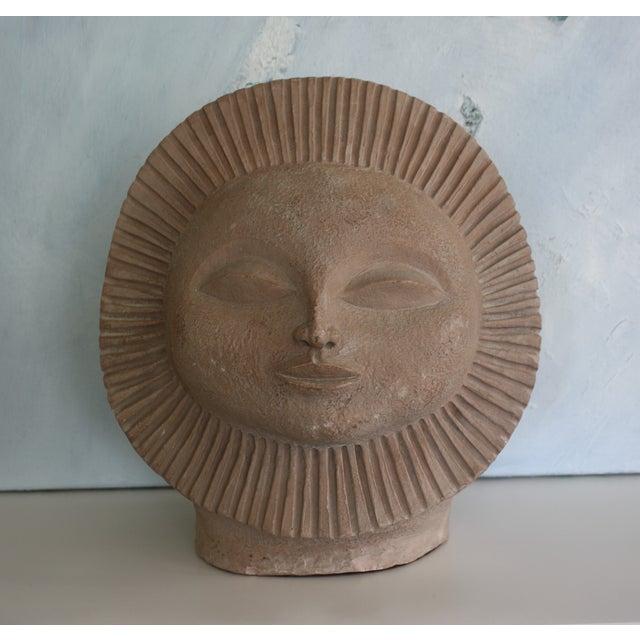 1968 Paul Bellardo Sun Face Sculpture - Image 2 of 7