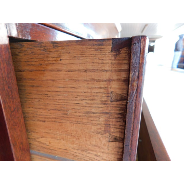 """Antique Georgian Style Mahogany 2pc Breakfront Bookcase Cabinet 95""""w For Sale - Image 10 of 13"""