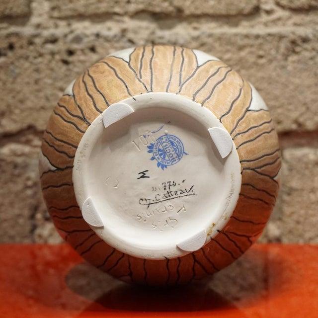 Ceramic 1920s Charles Catteau Vase For Sale - Image 7 of 8