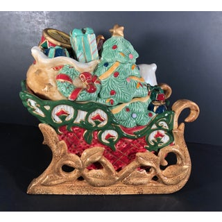 Vintage Fitz and Floyd Traditional Christmas Tidings Cookie Jar Preview