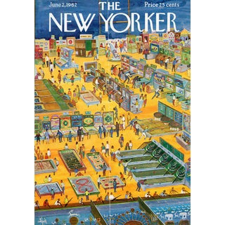 Vintage 1962 New Yorker Cover, June 2 (Anatol Kovarsky), Sports, Arcade For Sale
