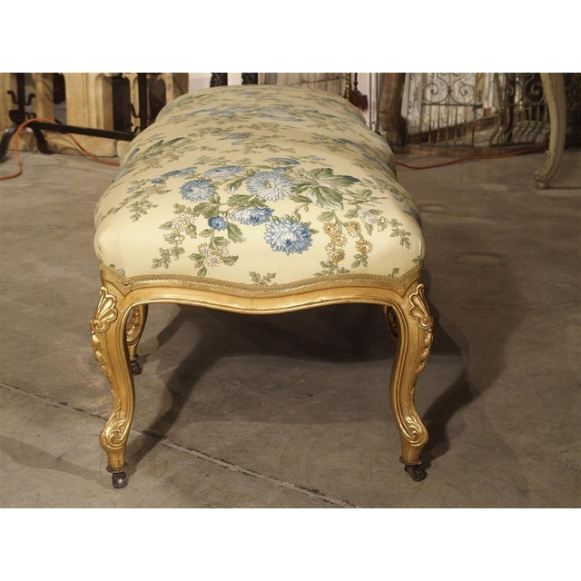 Antique Giltwood Regence Style Banquette From France, 19th Century For Sale - Image 4 of 13