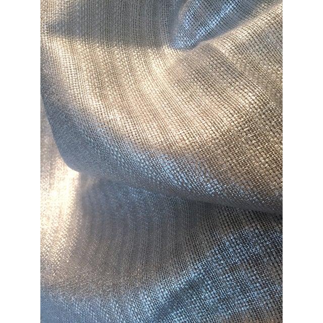 Designer's Guild Silver Sassiere Linen - 1.7 Yds For Sale In Kansas City - Image 6 of 9