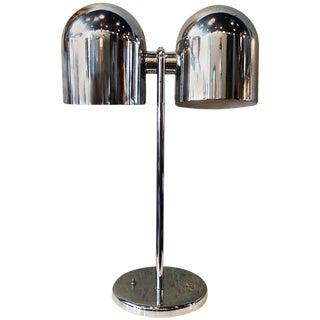 Mid-Century Modern Double-Headed Chrome Desk Lamp by Sonneman For Sale
