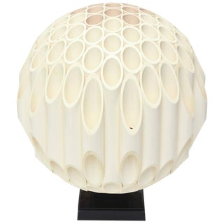 "Original Signed Rare Rougier ""Sphere"" Sculptural Table Lamp"