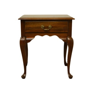 "Queen Anne Cresent Furniture Solid Cherry 22"" End Table For Sale"