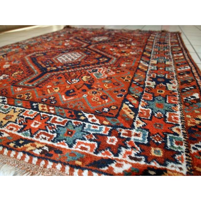 1920s Handmade Persian Gashkai Rug - 3.8' X 5.2' - Image 4 of 10