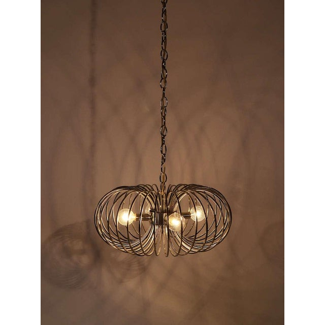 "Gaetano Sciolari ""Cage"" pendant lamp by Lightolier For Sale - Image 10 of 11"