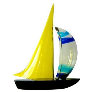 Murano Sailboat by Romano Dona' For Sale