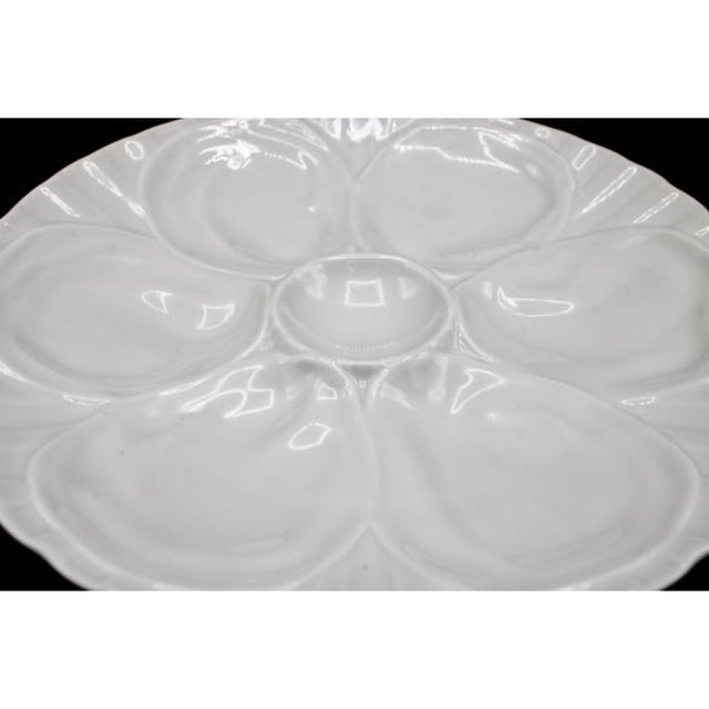 French Vintage French Pillivuyt White Oyster Plate For Sale - Image 3 of 8