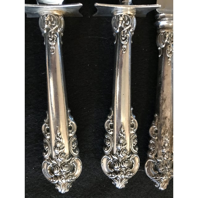 Wallace Sterling Silver Grand Baroque 93 Pc Flatware For Sale - Image 10 of 11