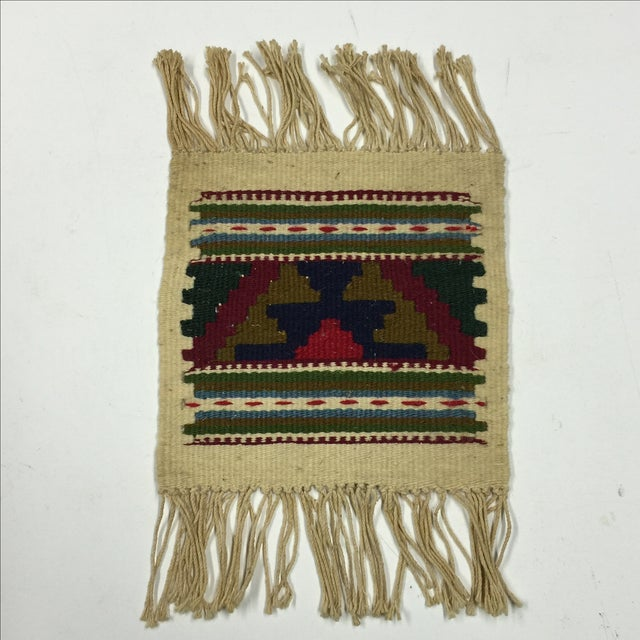 Miniature Hand Woven Zapotec Rug - 8″ × 1′1″ - Image 2 of 4