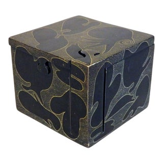 Decorated Stone Puzzle Box For Sale