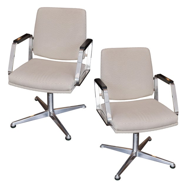 Vintage Office Swivel Chairs - Pair - Image 1 of 6