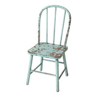 Vintage Children's Spindle Back Chair For Sale