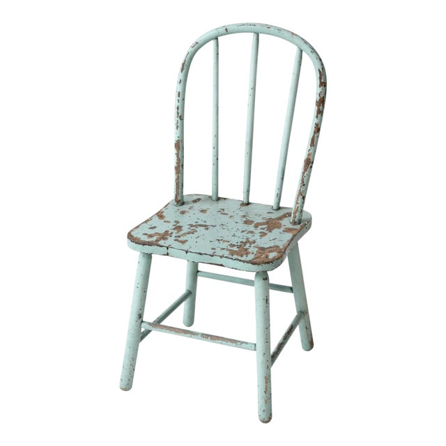 Vintage Children's Spindle Back Chair For Sale