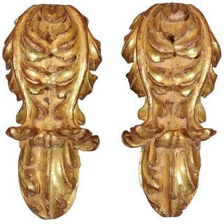 18th Century Italian Gilt Wood Fragments