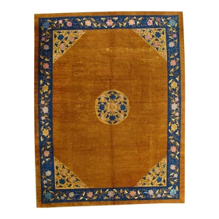 Pasargad Ny Antique Chinese Peking Hand-Knotted Rug - 9′ × 11′7″ For Sale