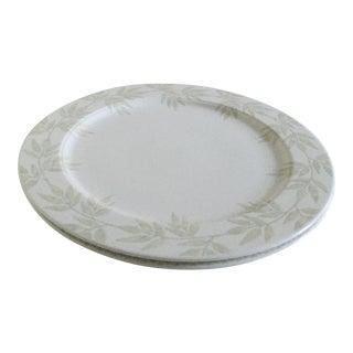 Villeroy & Boch Janda White Premium Porcelain Round Platters - A Pair