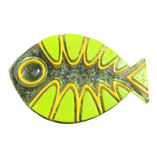 Colorflo Lucite Fish Trivet For Sale