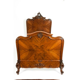 Chippendale Hand Carved Mahogany Matching Single Beds - a Pair Preview