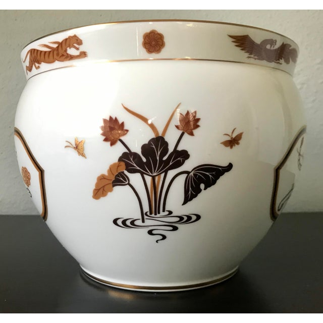 Vintage White Tiger jardiniere. Design was originally commission by the house of Okura and portrays, Byakko, one of the...