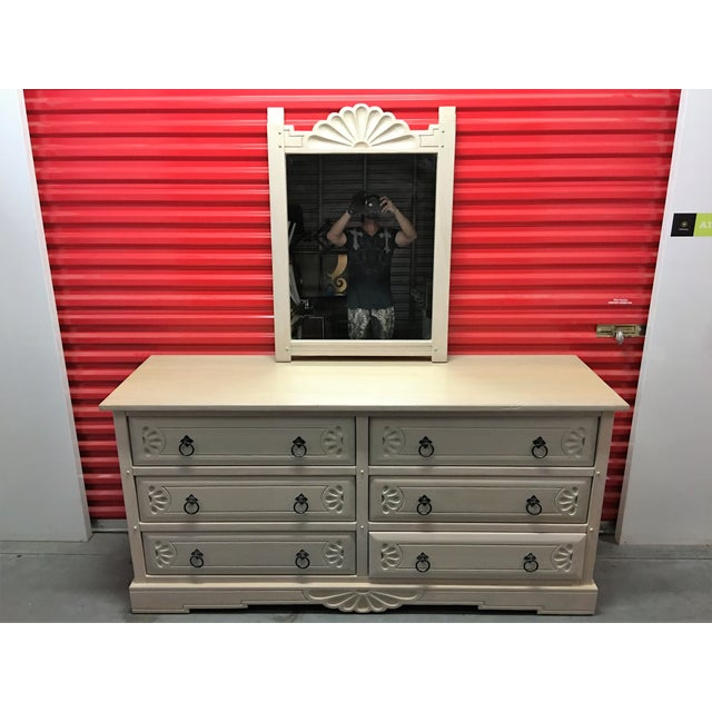 Southwest Style Solid Wood Dresser & Mirror - Image 6 of 9