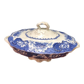 1900s Vintage Wharf Porcelain Lidded Tureen For Sale