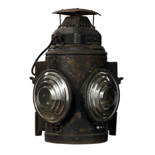 19th Century Industrial Adlake Rare Railroad Switching Light/Lantern For Sale