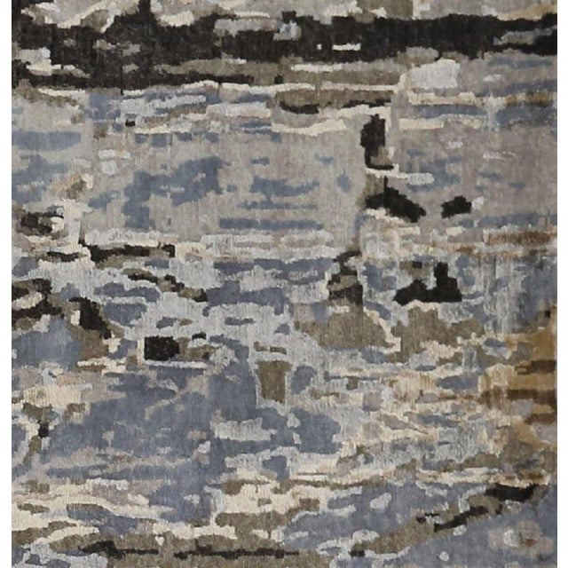 Modern Abstract Handwoven Rug - 8′11″ × 11′11″ -- 108733 For Sale - Image 4 of 6